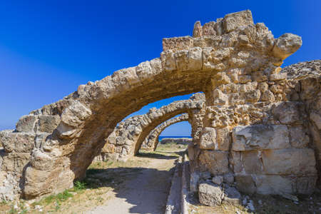 Ruins in Salamis - Famagusta Northern Cyprus - architecture background Reklamní fotografie