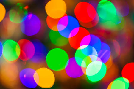 Abstract blurred photography bokeh - holiday background Imagens