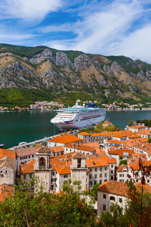 Kotor Bay and Old Town - Montenegro - nature and architecture background 写真素材