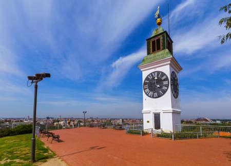 Clocktower in Petrovaradin fortress - Novi Sad Serbia - architecture travel background 写真素材