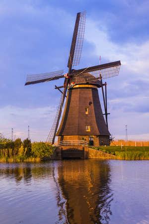 Windmills in Kinderdijk - Netherlands - architecture background 写真素材