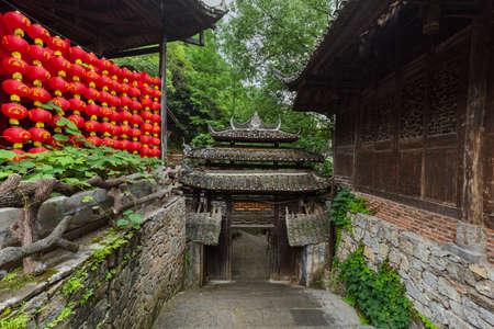 Tujia village in Zhangjiajie China - travel architecture background 写真素材
