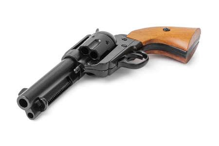 Gun revolver isolated on white background 写真素材