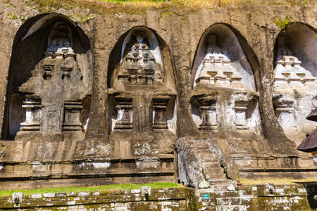 Ganung Kawi Temple in Bali Island Indonesia - travel and architecture background 写真素材