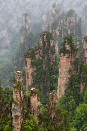 Tianzi Avatar mountains nature park - Wulingyuan China - travel background