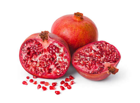 Big ripe pomegranate isolated on white background 写真素材
