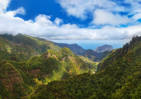 Balcoes levada panorama - Madeira Portugal - travel background Zdjęcie Seryjne