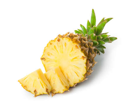 Ripe pineapple isolated on white background Zdjęcie Seryjne