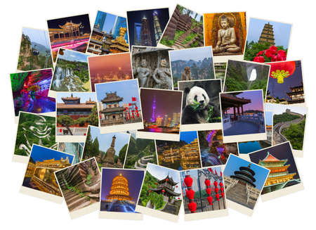 Collage of China images (my photos) - travel and architecture background