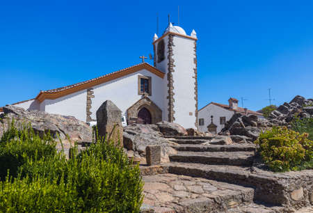 Famous village Marvao in Portugal - architecture background