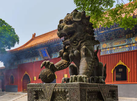 Lama Yonghe Temple in Beijing China - architecture background