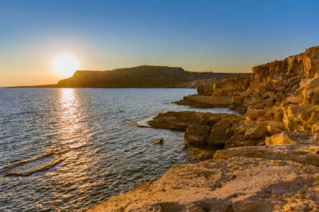 Cape Greco on Cyprus at sunset - nature background
