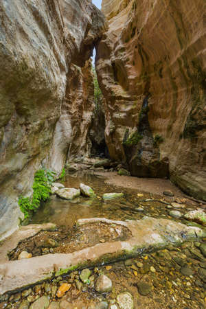 Avakas canyon in Cyprus island at Paphos - travel background