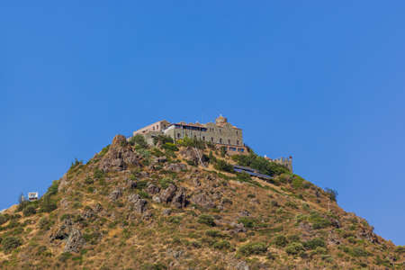 Stavrovouni Monastery on the mountain in Cyprus - architecture background