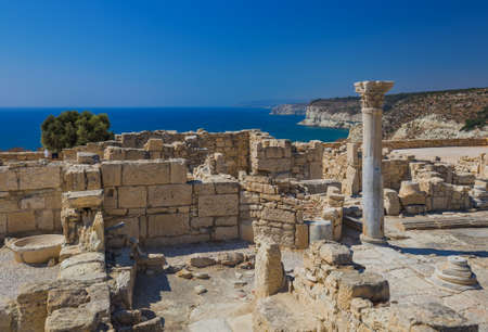 Ancient Kourion archaeological site in Limassol Cyprus - travel background