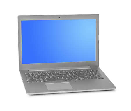 Notebook computer isolated on white background Archivio Fotografico