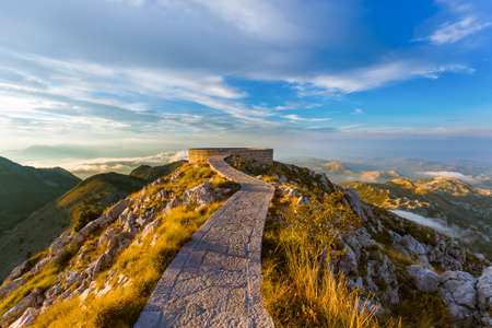 Lovcen Mountains National park at sunset in Montenegro Zdjęcie Seryjne