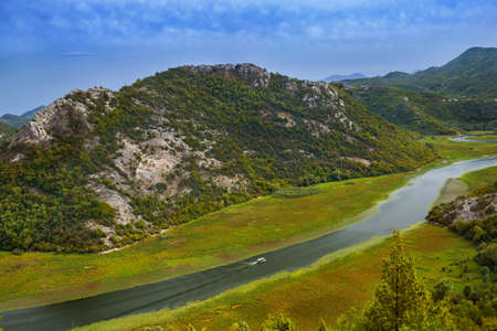 Rijeka Crnojevica River near Skadar Lake - Montenegro - nature background Zdjęcie Seryjne