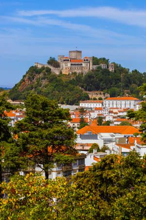 Castle in Leiria - Portugal - architecture background Zdjęcie Seryjne