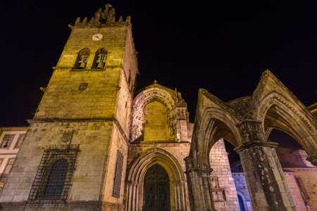Cathedral in town Guimaraes - Portugal - architecture background