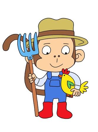 macdonald: Cute Farm Monkey