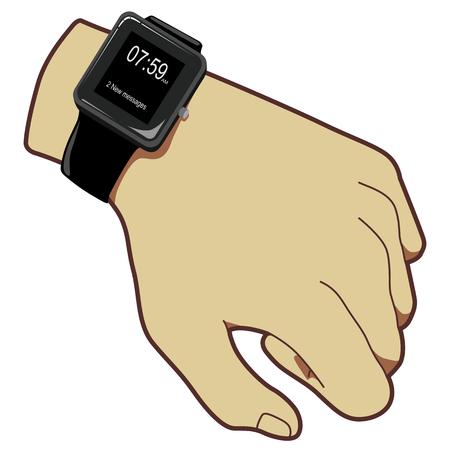 Hand look watch Ilustração