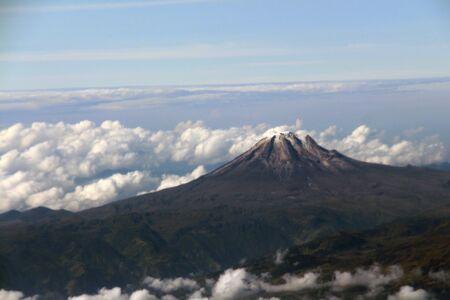 Sierra Nevada from Santa Marta from the air. Sierra Nevada of Santa Marta from the air.