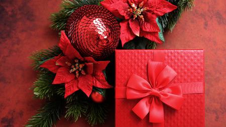 Christmas gift decoration photo