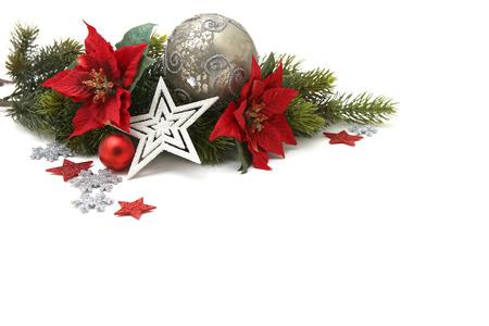 Luxurious Christmas decoration background photo