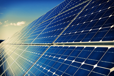 solar collector: Photovoltaic solar panels background