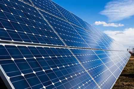 power nature: Solar panels installation