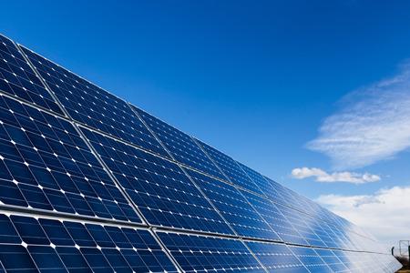 Solar panels and blue sky Banco de Imagens - 36318909