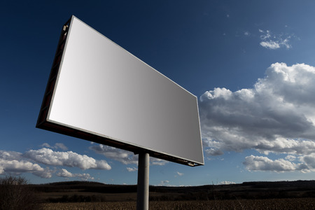 the oblong: Oblong big billboard and cloudy sky background