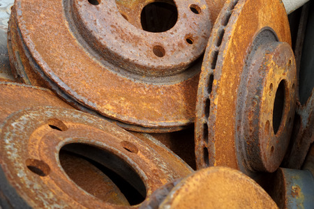 mechanical parts: Industrial background of old cracked mechanical parts
