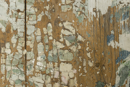 cracky: Closeup of cracky colorfully painted wooden surface Stock Photo