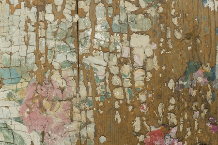 cracky: Wooden background of painted cracky bark Stock Photo