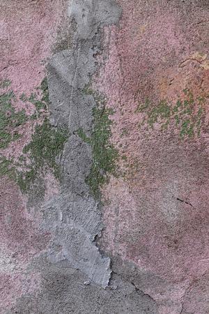 paint background: Da�ado yeso hormig�n con fondo rojo pintura
