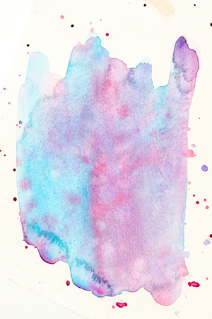 tempera: Blue and violet colored tempera paintbrushed background