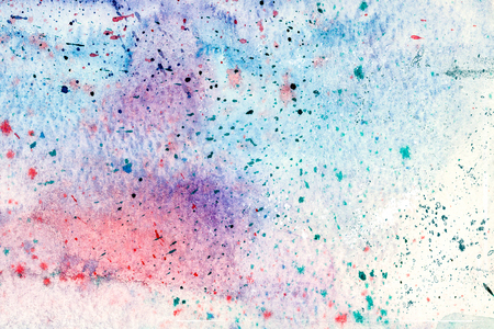 aquarelle: Aquarelle hand-painted abstract blue and violet colored background