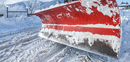snow plow: Snow plow machinery ready for winter cleaning Stock Photo
