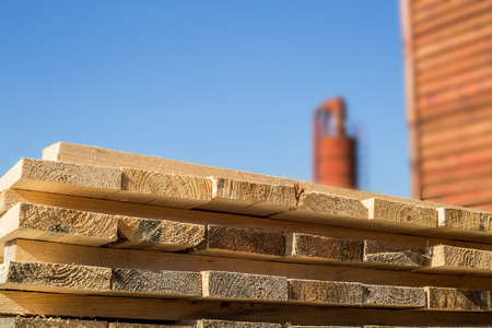 lumber mill: Wooden material for lumber mill, closeup shot