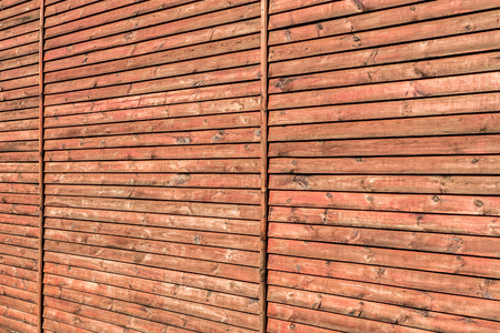 Wall surface made of wooden planks