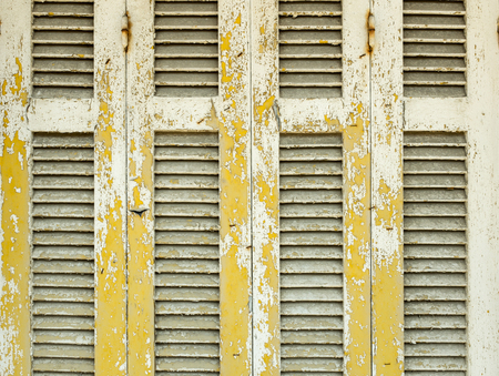 puertas antiguas: El primer de viejas puertas de madera con la pintura agrietada