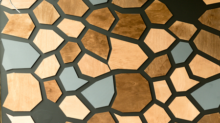 shaped: Closeup of colorful shaped tiles