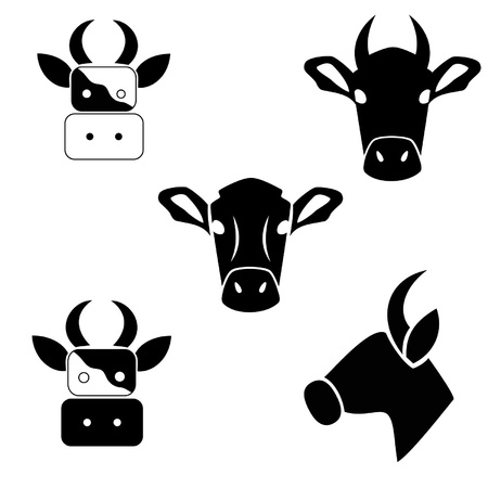 Silhouette of a cow on a white background Stock Vector - 17855657