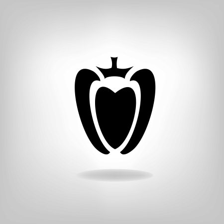 chilly: Hot chilli pepper vector isolated on light background.