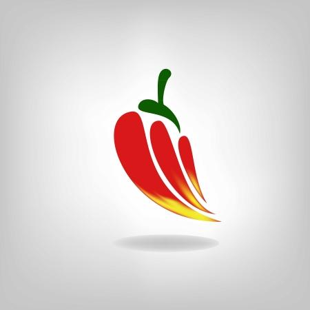 pepper vector isolated on light background.