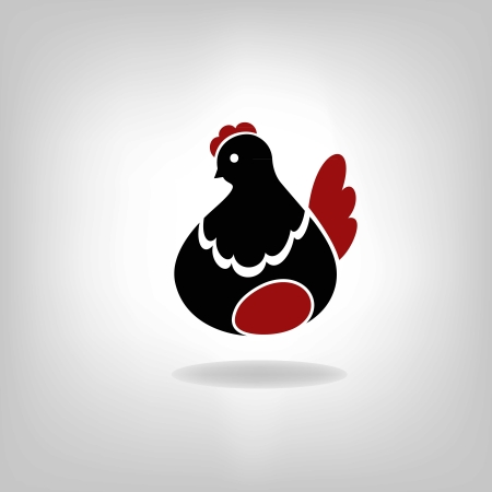premium chicken and egg Vector