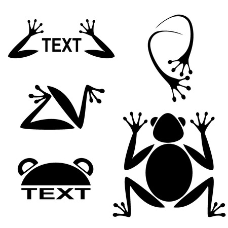 tadpole: Silhouettes frog-vector