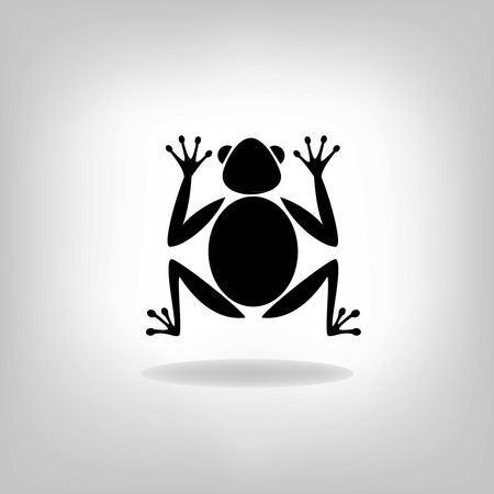 Silhouettes frog-vector Stock Vector - 24986771